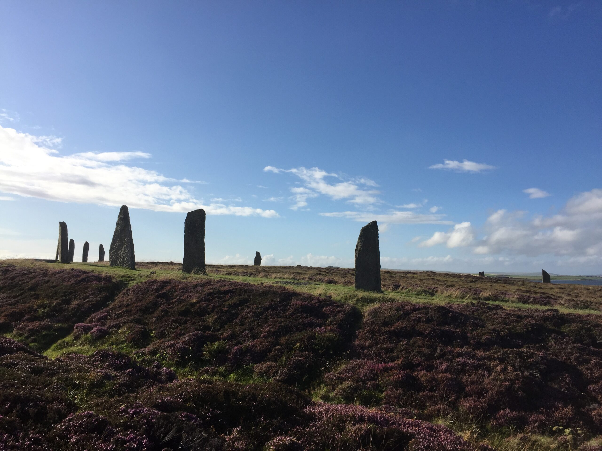 Standing stones on Orkney